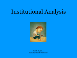 14 Institutional Analysis SP 2012