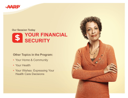 Your Financial Security Session