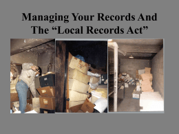 Local Records Act - Illinois Association of Park Districts