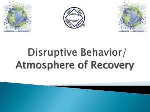 Disruptive Behavior Power Point