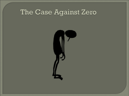 IGPro - The Case Agaist Zero