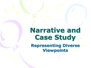 Narrative and Case Study