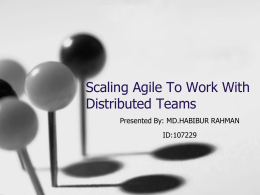 Scaling Agile To Work With Distributed Teams