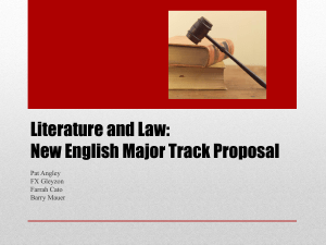 Pre-Law track for English majors