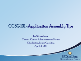 CCSG 101 - Hollings Cancer Center