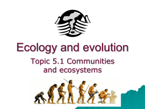 5.1 Ecology definitions