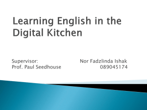 Learning English in the digital kitchen