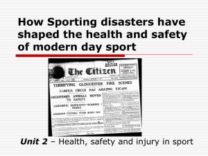How Sporting disasters have shaped the health and safety of