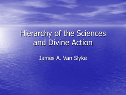 Hierarchy of the Sciences and Divine Action