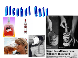 Year 8 Lesson 2 alcohol quiz