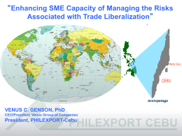 Title of the Presentation - APEC SME Crisis Management Center