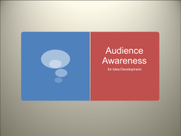 Audience Awareness - Montgomery County Schools