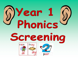 Year 1 Phonics Screent Test PowerPoint