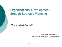 Organizational Development - Grant Writers` Network of Greater