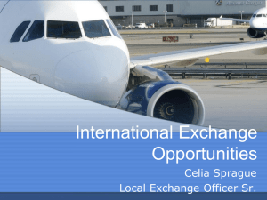International Exchange Opportunities