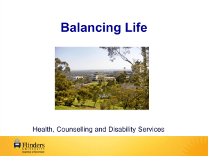 Finding Balance - Work Belongs at Work (PPT 9MB)