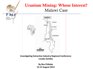 Uranium mining not in the people`s interest