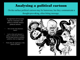 Analysing a political cartoon