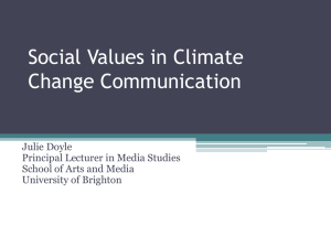 Social Values in Climate Change Communication
