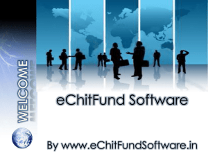 Chit Fund software PPT