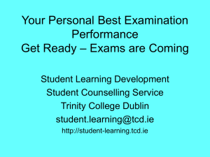 Exams Get Ready - Student Learning Development