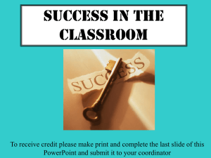 Ensuring Success In Your Classes Upward Bound