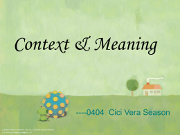 8.1-context and meaning