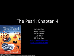 The Pearl: Chapter 4