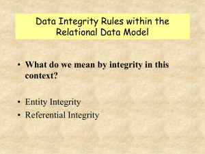 Data Integrity in Relational Model