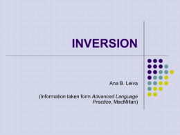 inversion after as