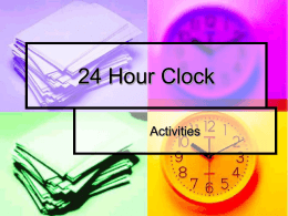 24 Hour Clock Activities