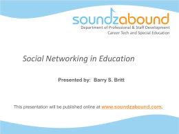 Social Networking in Education