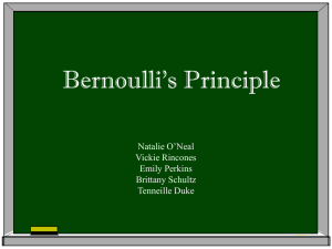 Bernoulli`s Principle