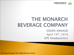 Monarch Beverages