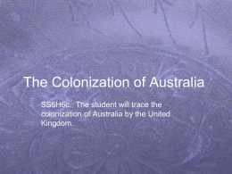 The Colonization of Australia