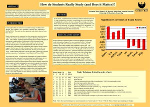 How Do Students` Study? - University of Wisconsin