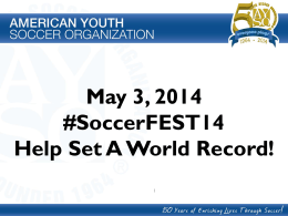 Check out a fast presentation about #SoccerFEST14