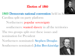 Election of 1860 - Georgia History