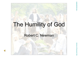 The Humility of God - newmanlib.ibri.org