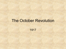 The October Revolution - Alness Academy History
