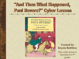 And then What Happened Paul Revere?