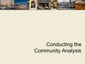 Conducting the Community Analysis