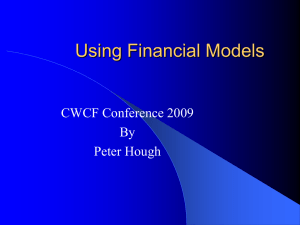 Using Financial Models - Canadian Worker Co