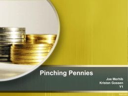 Pinching Pennies Presentation