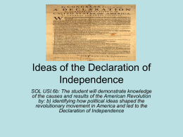Ideas of the Declaration of Independence