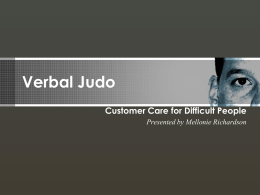 Verbal Judo - Los Rios Community College District