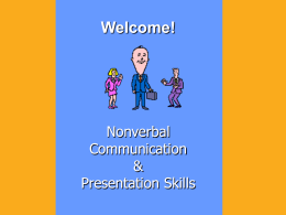 Nonverbal Communication and Presentation Techniques