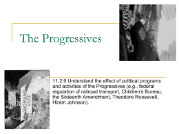 The Progressives 10/3