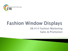 Fashion Window Displays - CTEP Marketing Toolkit