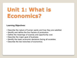 What is economics ppt